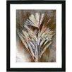 "Studio Works Modern ""Harvest Floral - Amber"" by Zhee Singer Framed Fine Art Giclee Painting Print"
