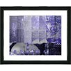 "Studio Works Modern ""Urban Puzzle - Blue"" by Zhee Singer Framed Fine Art Giclee Painting Print"