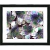 "Studio Works Modern ""Spring Flowers - Purple"" by Zhee Singer Framed Fine Art Giclee Painting Print"