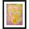 "Studio Works Modern ""Yellow Dansing Bud - Lavender"" by Zhee Singer Framed Fine Art Giclee Painting Print"