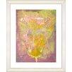 "Studio Works Modern ""Yellow Dansing Bud - Lavender"" by Zhee Singer Framed Fine Art Giclee Print"