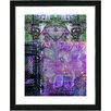 "Studio Works Modern ""Bustle - Purple"" by Zhee Singer Framed Fine Art Giclee Painting Print"