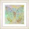 "Studio Works Modern ""Pastel Butterfly"" by Zhee Singer Framed Fine Art Giclee Painting Print"