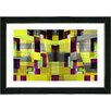 "Studio Works Modern ""Atrium Labyrinth"" by Zhee Singer Framed Fine Art Giclee Painting Print"