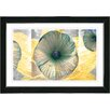 "Studio Works Modern ""Yellow Moon Flower"" by Zhee Singer Framed Fine Art Giclee Painting Print"
