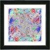 "Studio Works Modern ""Blue Yin Yang Dot Com"" by Zhee Singer Framed Painting Print"
