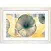 "Studio Works Modern ""Yellow Moon Flower"" by Zhee Singer Framed Fine Art Giclee Painting Print"