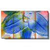 "Studio Works Modern ""Blue Mist Flower"" Gallery Wrapped by Zhee Singer Painting Print on Canvas"