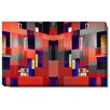 "Studio Works Modern ""Atrium Labyrinth"" Gallery Wrapped by Zhee Singer Painting Print on Canvas"