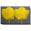 "Studio Works Modern ""Twin Tulips"" Gallery Wrapped by Zhee Singer Painting Print on Canvas"