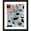 """Studio Works Modern """"Steel Blue Plyos Play"""" by Zhee Singer Framed Painting Print"""
