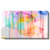 """Studio Works Modern """"Flat Earth Theory"""" Gallery Wrapped by Zhee Singer Painting Print on Canvas"""