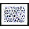 """Studio Works Modern """"Abstract Eggs"""" by Zhee Singer Framed Fine Art Giclee Painting Print"""