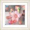 "Studio Works Modern ""Pastel Pearl Flower"" by Zhee Singer Framed Fine Art Giclee Painting Print"