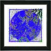 "Studio Works Modern ""Storm in a Blue Sphere"" by Zhee Singer Framed Fine Art Giclee Painting Print"