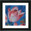 "Studio Works Modern ""Blue Tulip - White"" by Zhee Singer Framed Fine Art Giclee Painting Print"