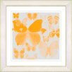 "Studio Works Modern ""Orange Butterfly Montage"" by Zhee Singer Framed Fine Art Giclee Painting Print"