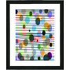 "Studio Works Modern ""Quirk Series - Grey"" by Zhee Singer Framed Fine Art Giclee Painting Print"