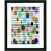 "Studio Works Modern ""Quirk Series - Grey"" by Zhee Singer Framed Fine Art Giclee Painting Print"
