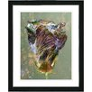 "Studio Works Modern ""Autumn Amber Bud"" by Zhee Singer Framed Fine Art Giclee Painting Print"