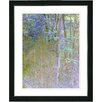 "Studio Works Modern ""Summer Forest"" Framed Fine Art Giclee Print in Noon"