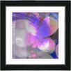 "Studio Works Modern ""Purple Morning Glory"" by Zhee Singer Framed Fine Art Giclee Painting Print"