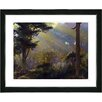 "Studio Works Modern ""Forest Sunbeams"" by Zhee Singer Framed Painting Print"