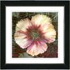 "Studio Works Modern ""Peach Floral Flair"" by Zhee Singer Framed Fine Art Giclee Painting Print"