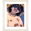 "Studio Works Modern ""Girl with Sunglasses"" by Zhee Singer Framed Fine Art Giclee Painting Print"