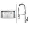 "Ruvati 36"" x 21"" Kitchen Sink with Faucet"