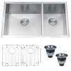 "<strong>Nesta 32"" x 20"" Undermount Double Bowl Kitchen Sink</strong> by Ruvati"