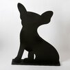 "<strong>Unleashed ""Chihuahua"" Dog Silhouette Table 1' 3"" x 1' 0.25"" Chalkboard</strong> by DEI"