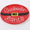 "DEI 10"" Cookies for Santa Ceramic Plate"
