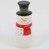 DEI Christmas Morning 4 Piece Ceramic Snowman Measuring Cup Set