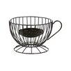 DEI Farm to Table Metal Coffee Cup Keeper Fruit Basket
