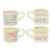 DEI 2 Piece Ceramic Pocket 10 Oz. Mug Set