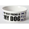 "DEI Just Dogs ""My Best Friend Is My Dog"" Stoneware Dog Bowl"