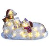 <strong>Brite Star</strong> LED Icy Polar Bear Family Lawn Silhouette Christmas Decoration