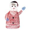 Brite Star Spun Glitter 100 Light Santa Silhouette Christmas Decoration