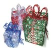 <strong>Brite Star</strong> Spun Glitter 150 Light Present Silhouette 3 Piece Christmas Decoration