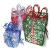 Brite Star Spun Glitter 150 Light Present Silhouette 3 Piece Christmas Decoration