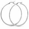 <strong>Diamond Hoop Earrings</strong> by Steeltime