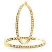 Steeltime Diamond Hoop Earrings