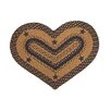 <strong>IHF Home Decor</strong> Star Black Heart Rug
