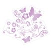 Lambs & Ivy Butterfly Lane 4 Piece Wall Appliques Set