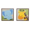 <strong>Jungle Buddies 2 Piece Decorative Wall Hanging Set</strong> by Lambs & Ivy