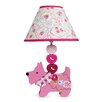 """Lambs & Ivy Puppy Tales 16.5"""" H Table Lamp with Empire Shade"""
