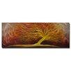Pure Art Tree Sculptures Ablaze Original Painting Plaque