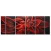Pure Art Flower Sculptures Life Revealed 6 Piece Original Painting Plaque Set