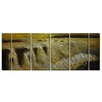 <strong>Pure Art</strong> Earth Tones Golden Waterfalls 6 Piece Original Painting Plaque Set